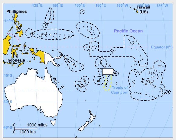 Oceania Map Countries oceania geography games gisetc