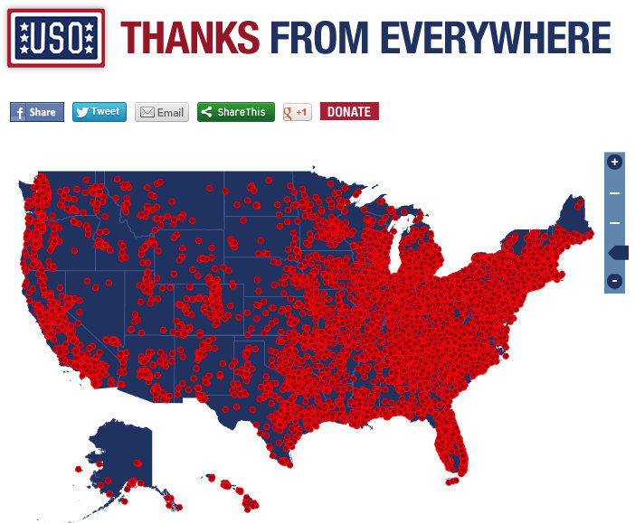 Add Your Thanks to Our Troops to the Map