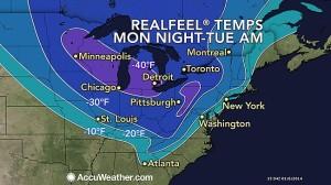 Temperature Map January 2014