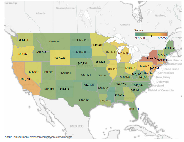 Mapping Teacher Income Across the Country