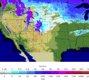 2014 Snow Accumulation Map from Accuweather.com