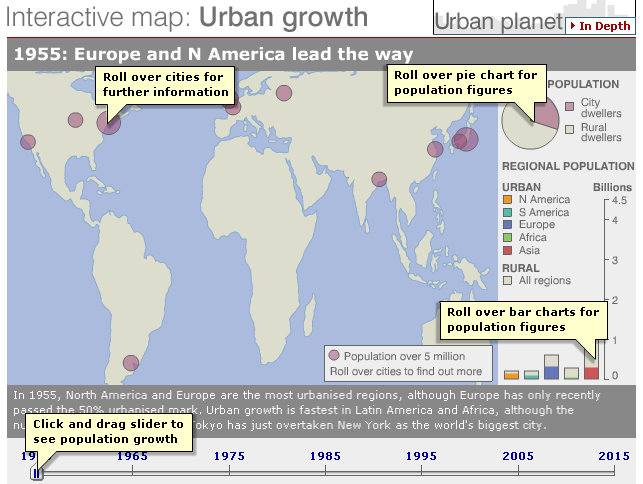 Interactive Map of Urban Growth GISetc