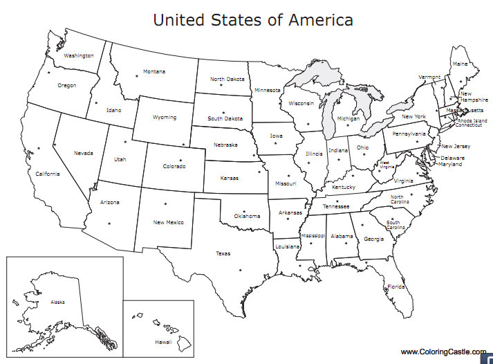 united states map coloring pages Just for Fun: U.S. Map Printable Coloring Pages | GISetc united states map coloring pages