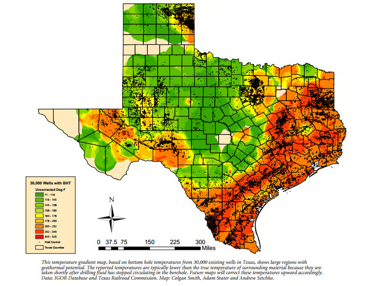 Sizing Up the Potential for Geothermal Energy in Texas | GISetc