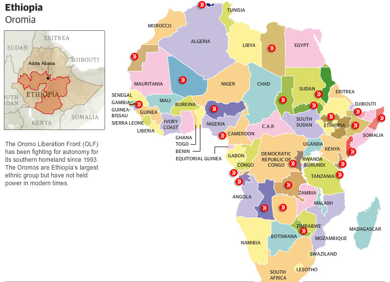 The Separatist Map Of Africa Interactive GISetc - Egypt interactive map