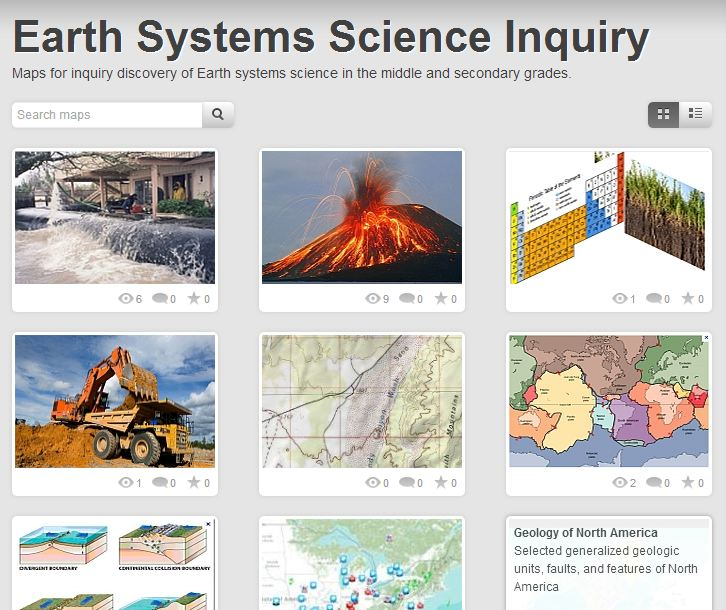 map portal for earth science