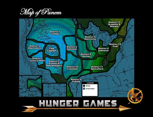 Maps of Panem: the Hunger Games | GISetc